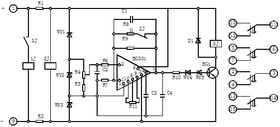 1.继电器的额定值及规格见表1。 2.动作电压:对于额定电压为220V和110V的继电器不大于80%额定电压,对于额定电压为48V的继电器不大于90%额定电压。 表 1  3.延时一致性:在温度为205时,继电器任意整定点上连续动作5次,最大与最小延时的差别不大于整定值的5%。 4.温升:当环境温度为50时,继电器长期加110%额定电压,其线圈温升不应超过50。 5.