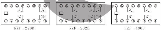 rzf-d断电延时继电器